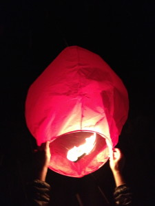 Paper lantern ready to be launched!